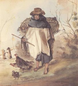 Vendedora de pollo. Le Moyne (atribuido). 1835.